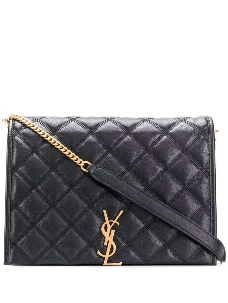 SAINT LAURENT leather shoulder bag Y579607 black