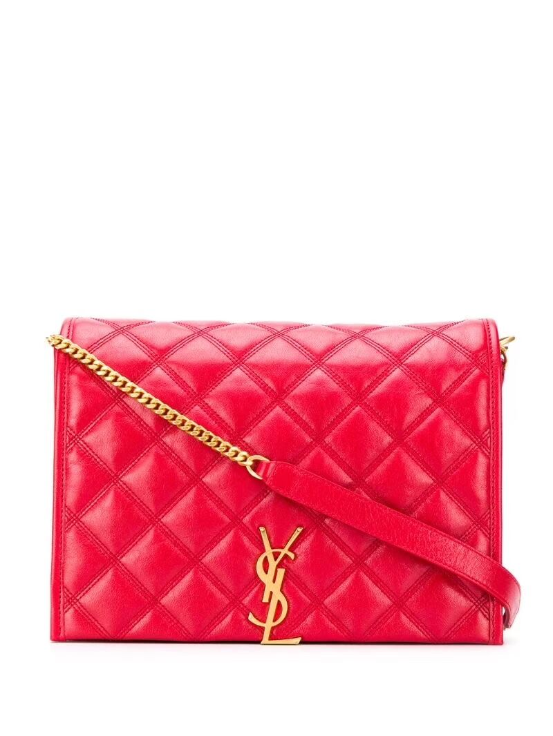 SAINT LAURENT leather shoulder bag Y579607 red