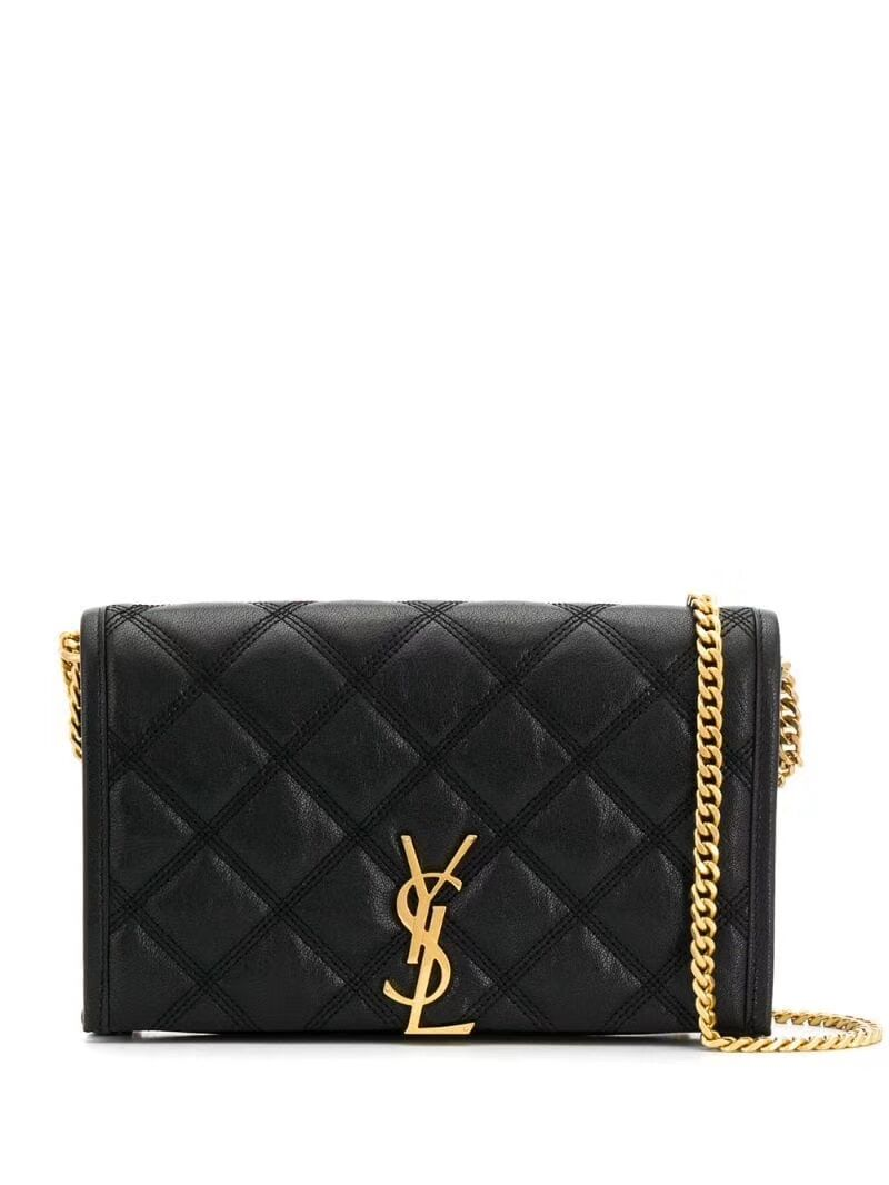 SAINT LAURENT leather shoulder bag Y585031 black