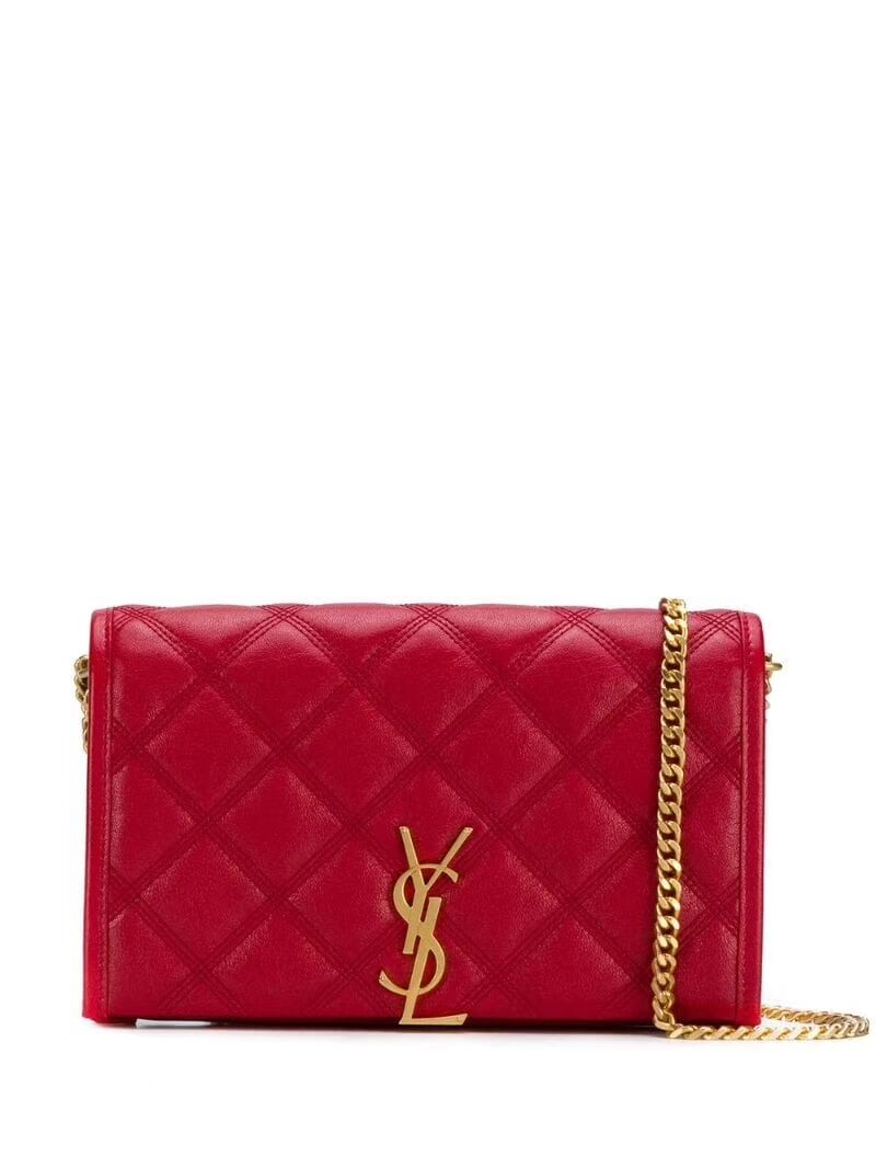 SAINT LAURENT leather shoulder bag Y585031 red