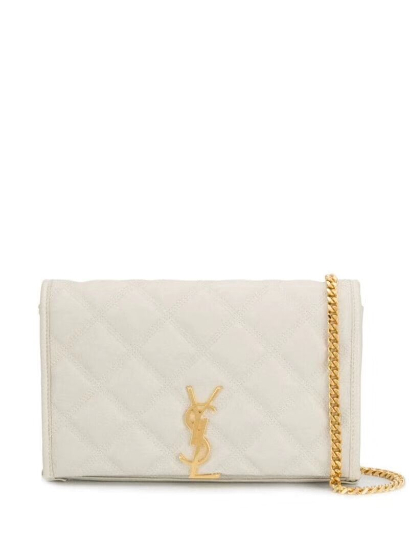 SAINT LAURENT leather shoulder bag Y585031 white