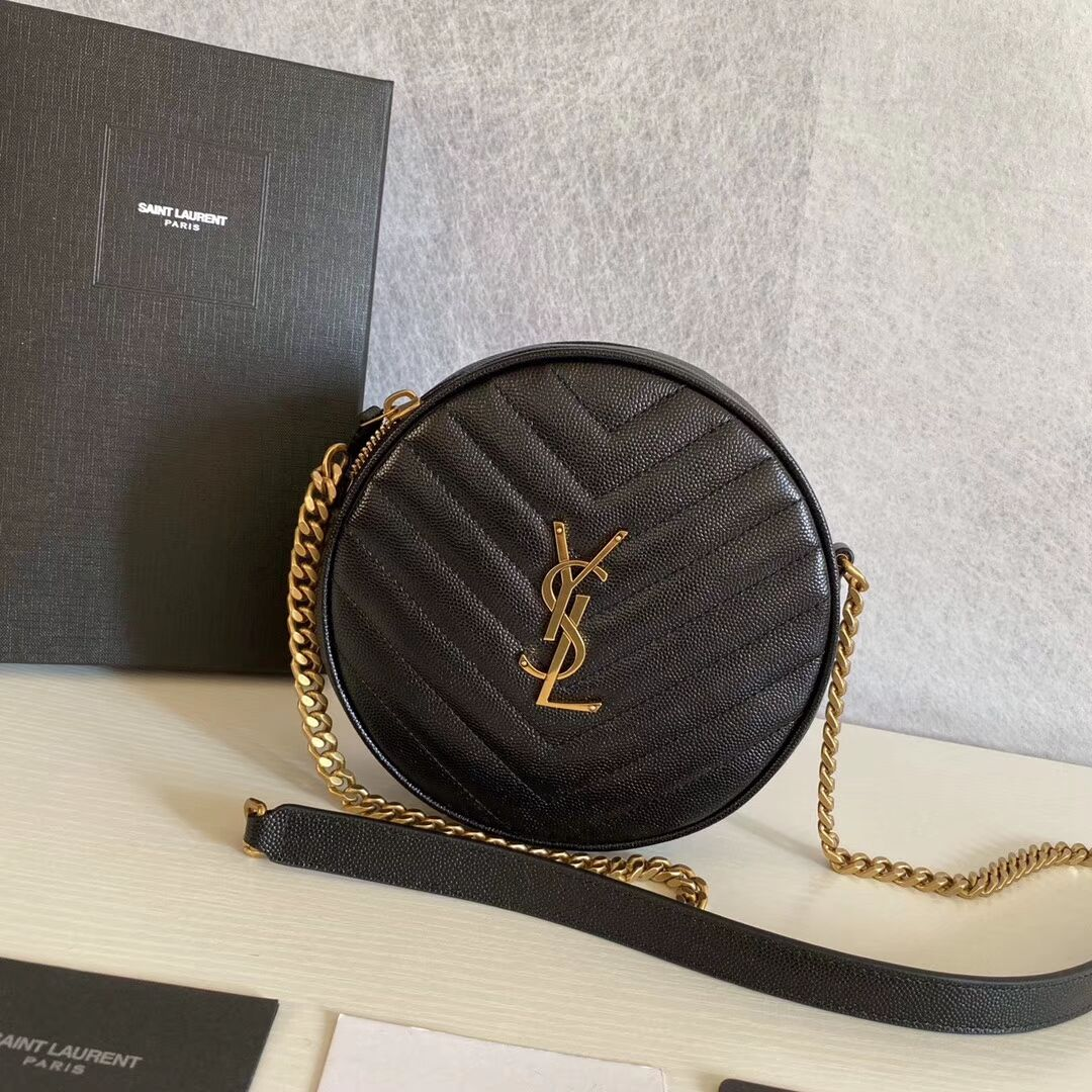 SAINT LAURENT leather shoulder bag Y610436 black