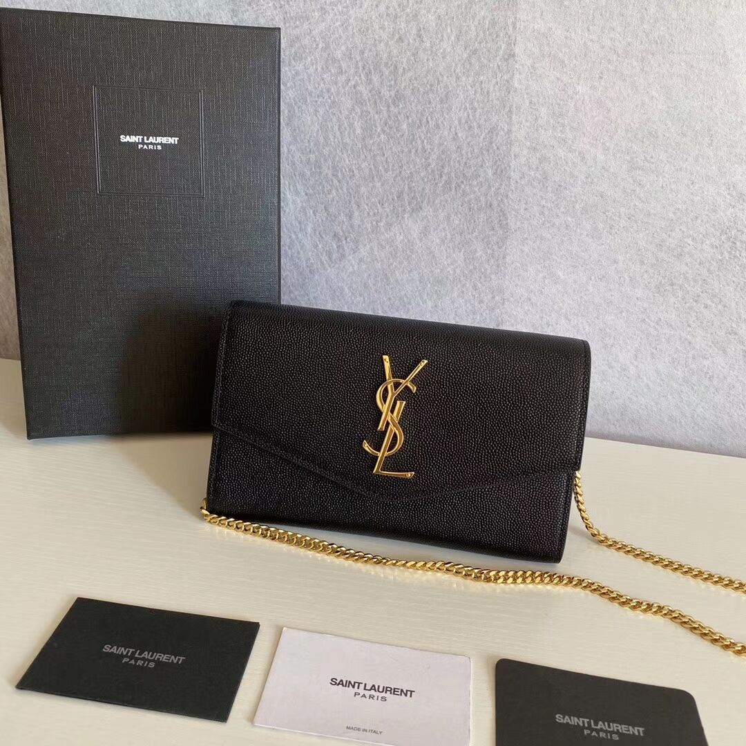 SAINT LAURENT leather shoulder bag Y659193 black