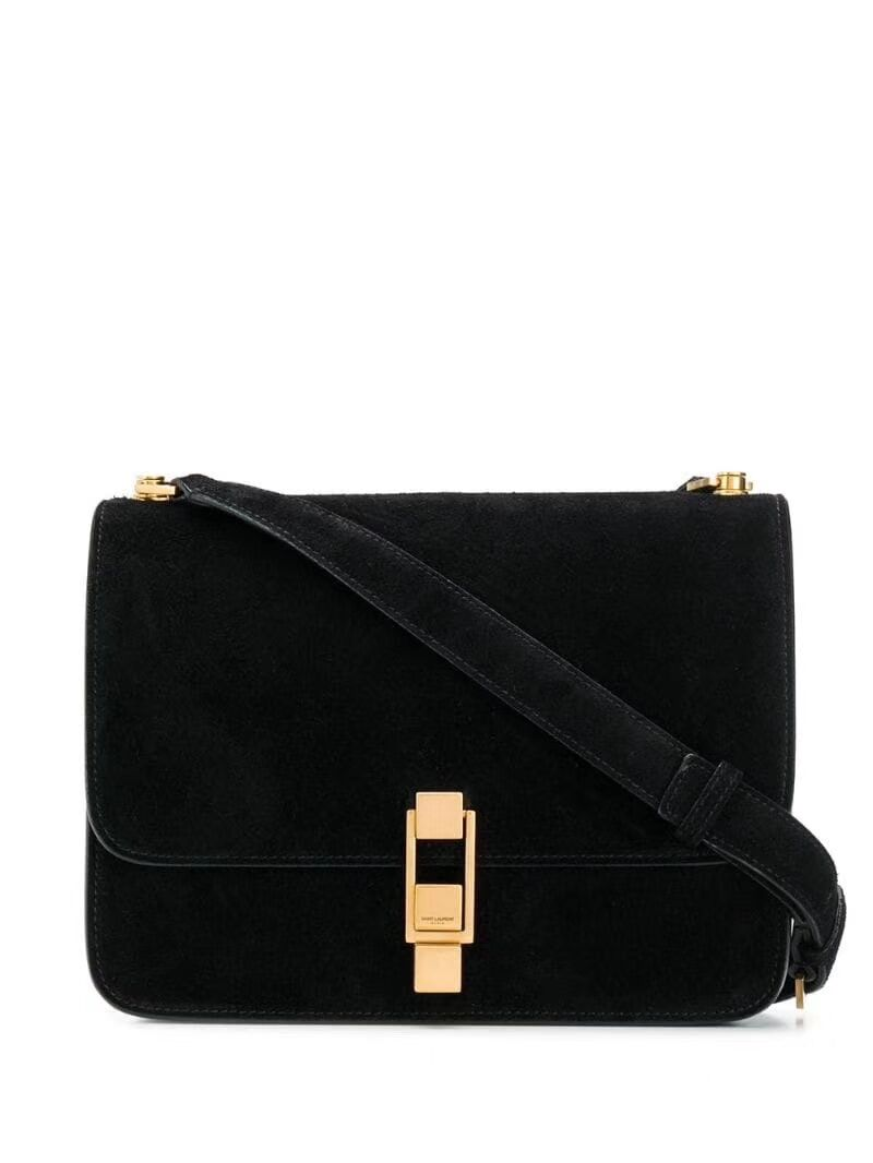 Yves Saint Laurent Small Original Nubuck leather Shoulder Bag Y585061 black