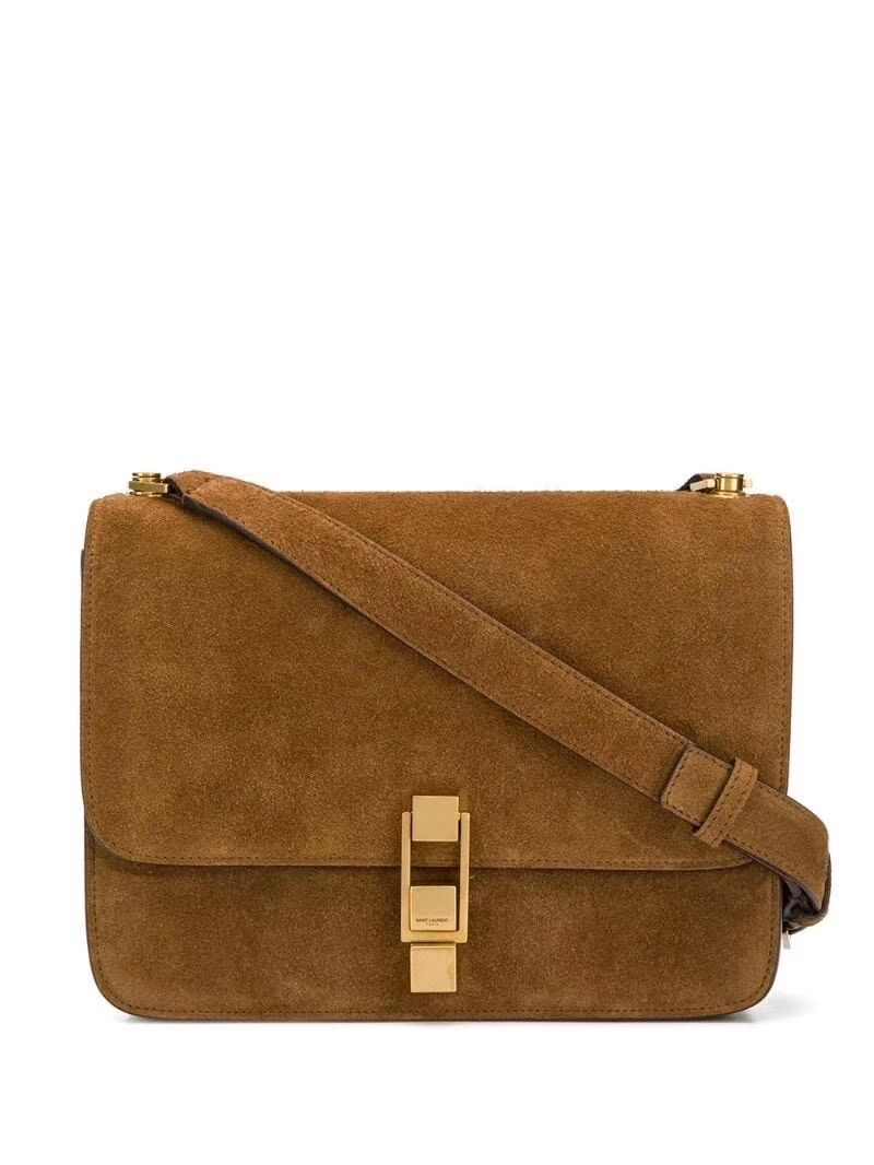Yves Saint Laurent Small Original Nubuck leather Shoulder Bag Y585061 brown