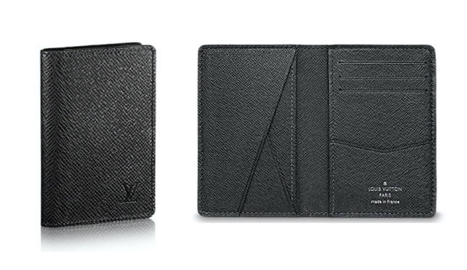 Louis Vuitton Original Leather Wallet M64498 Black