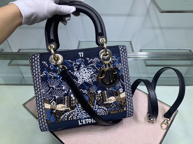 LADY DIOR embroidered cattle leather M0565-1