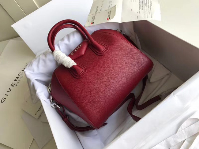Givenchy Grained Calfskin Small Antigona Bag BB0511 Burgundy