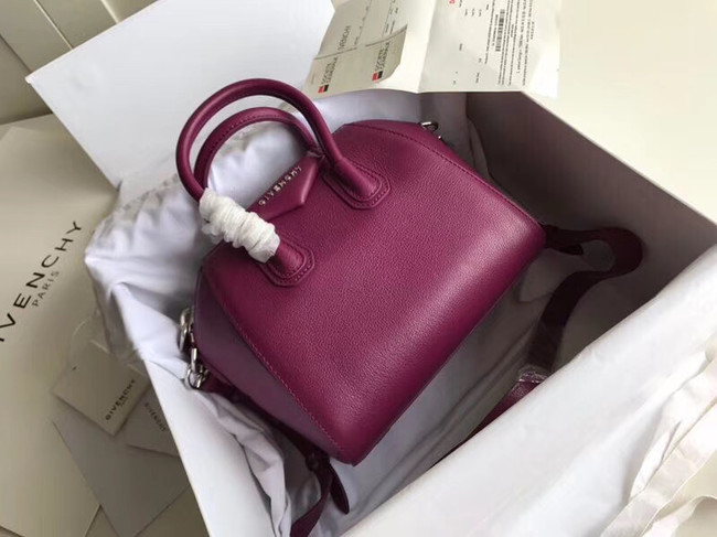 Givenchy Grained Calfskin Small Antigona Bag BB0511 purple