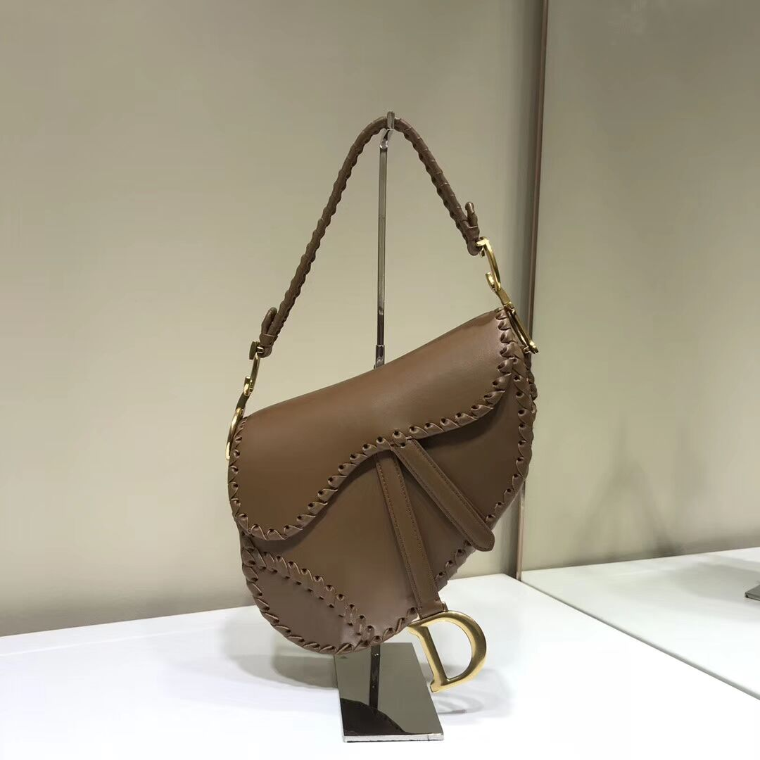 Dior SADDLE SOFT CALFSKIN BAG C2478 brown