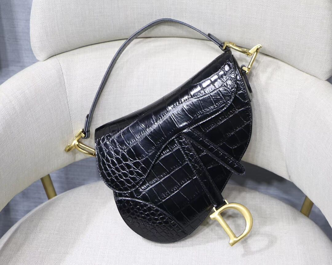 Dior SADDLE SOFT CALFSKIN BAG C9045 black