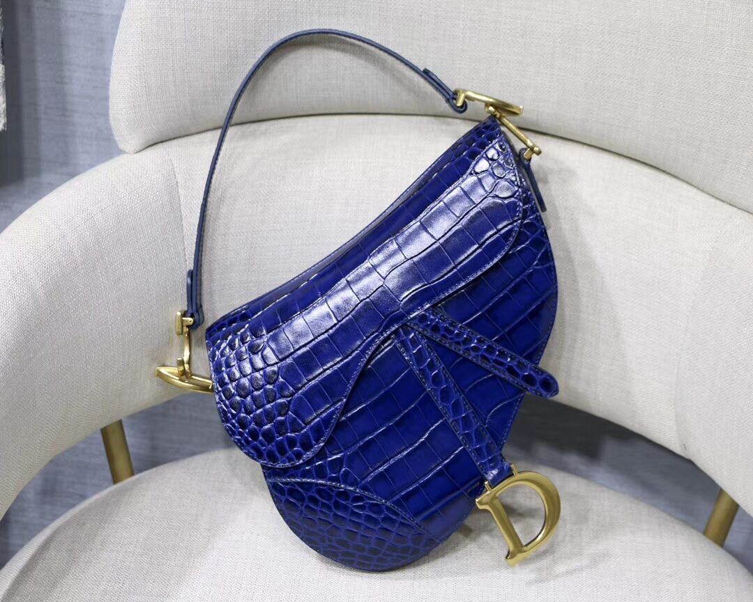 Dior SADDLE SOFT CALFSKIN BAG C9045 blue