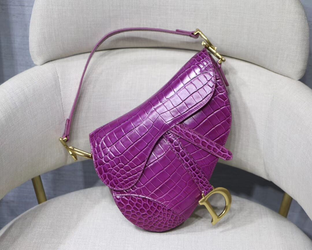 Dior SADDLE SOFT CALFSKIN BAG C9045 purple