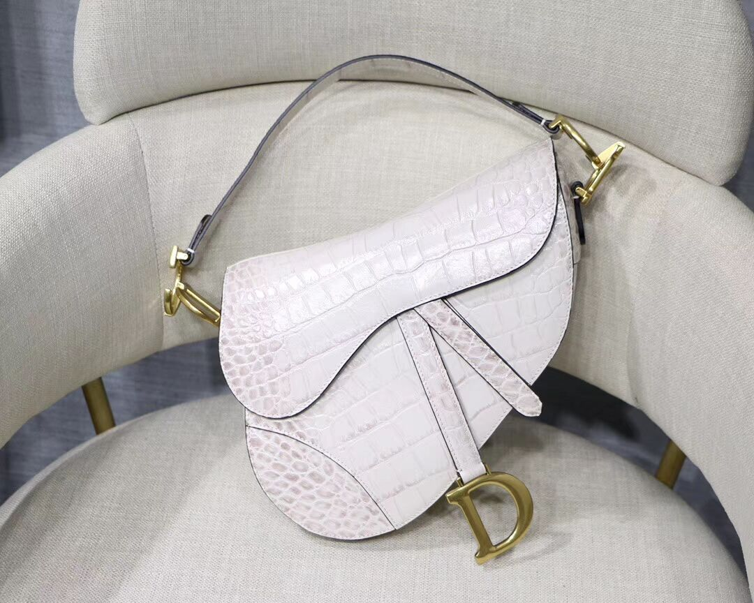 Dior SADDLE SOFT CALFSKIN BAG C9045 white