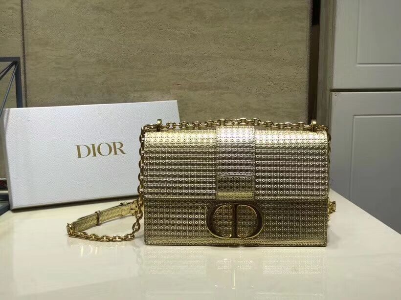 Dior 30 MONTAIGNE SMOOTH CALFSKIN FLAP BAG C9230 gold