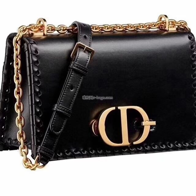 DIOR 30 MONTAIGNE THREADED EDGES CALFSKIN FLAP CHAIN BAG M9220