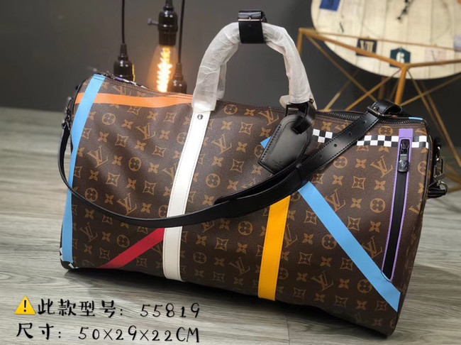 Louis vuitton KEEPALL BANDOULIERE 50 travel bag M55819
