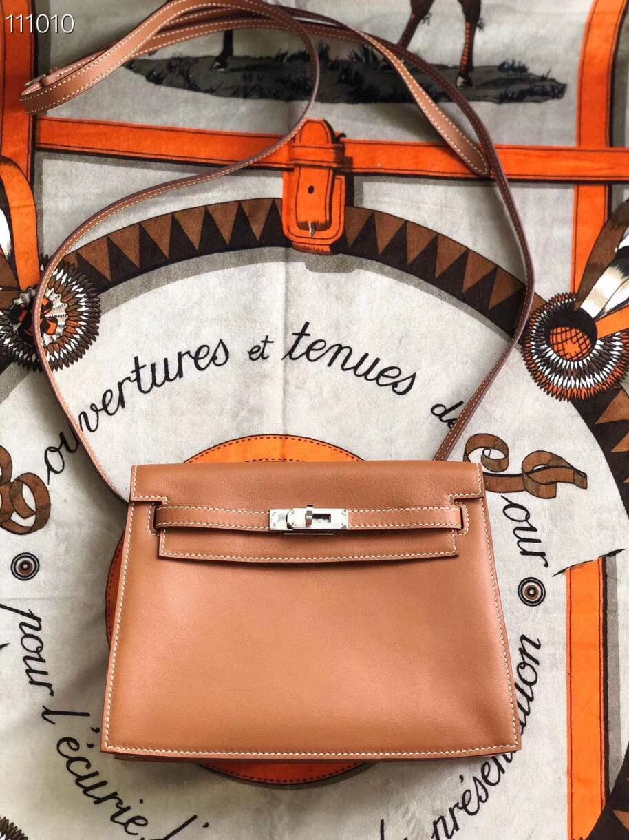 Hermes Kelly Danse Original Leather 22CM KL22 Brown