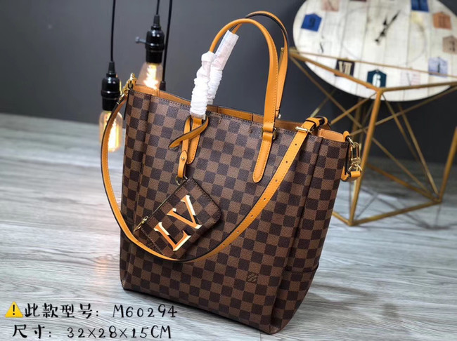 Louis Vuitton Damier Ebene Canvas Original Leather M62094 brown