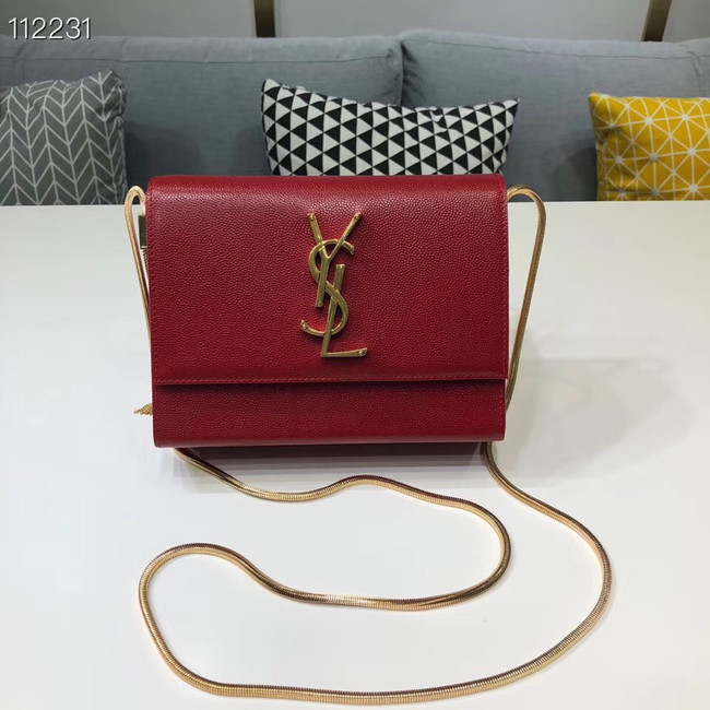 Yves Saint Laurent Kate mini Original leather Shoulder Bag Y593122 red