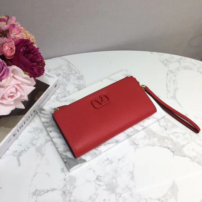 VALENTINO Origianl leather 060 Clutch bag red