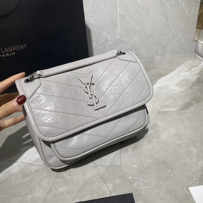 Yves Saint Laurent MINI Niki Chain Bag 498893 PEARL GREY