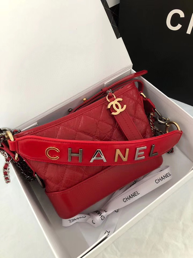 Chanel gabrielle small hobo bag AS0865 red