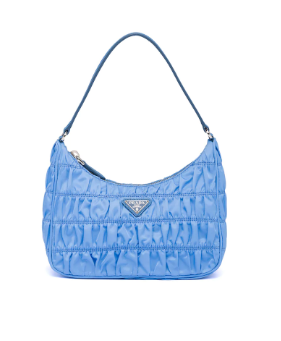 Prada Nylon and Saffiano leather mini bag 1NE204 blue