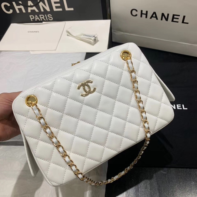 CHANEL 2020 New Style Original Leather AS1168 white