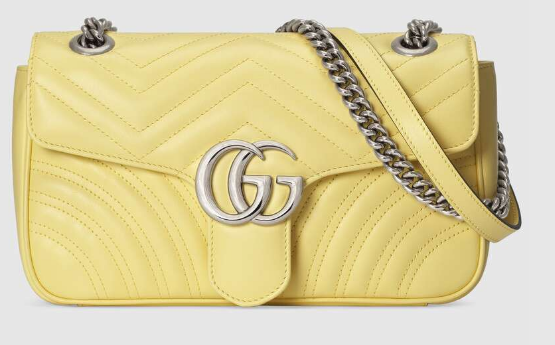 Gucci GG Marmont small shoulder bag 443497 yellow