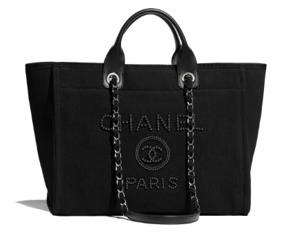 Chanel Canvas Tote Shopping Bag A66941 black
