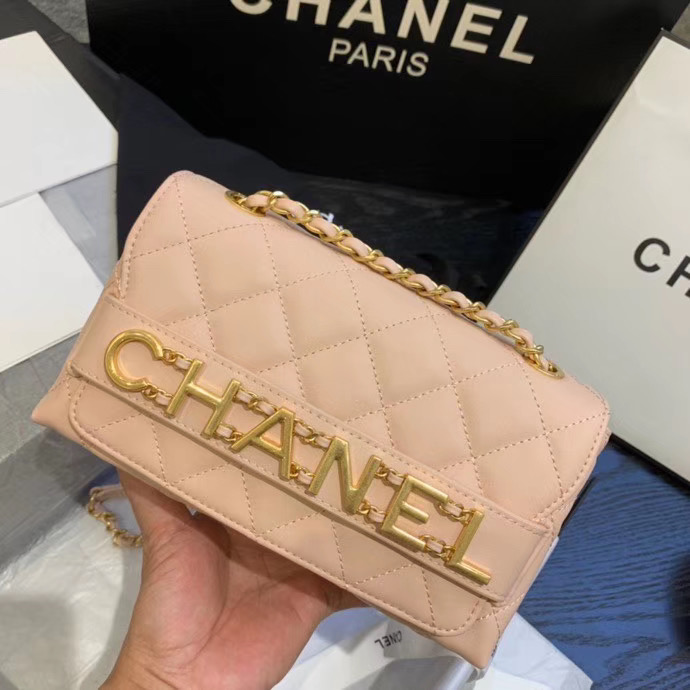 Chanel small Flap Bag Original Sheepskin Leather AS1490 light pink
