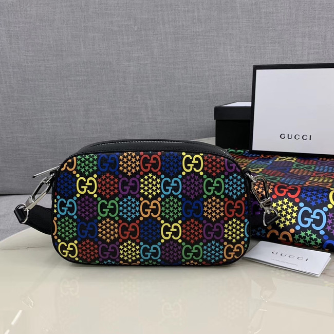 Gucci GG Psychedelic Canvas Messenger Bag 574886 black