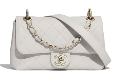 Chanel Original Soft Leather Small flap bag  AS1459 white