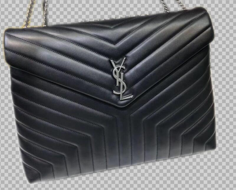Yves Saint Laurent Calfskin Leather Jumbo Tote Bag Black 464698 Silver hardware