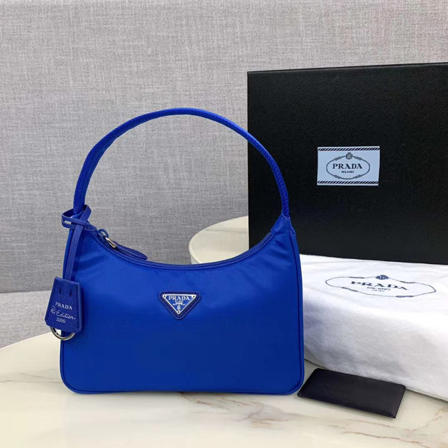 Prada Re-Edition 2000 nylon mini-bag 1NE515 Electro optic blue