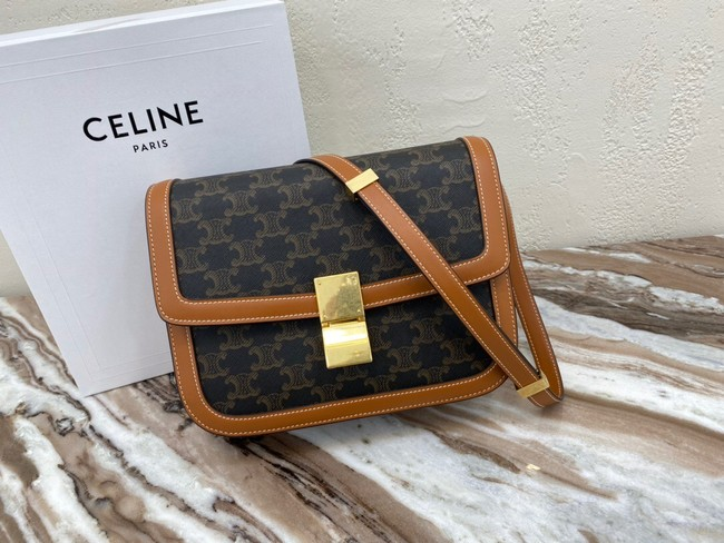 CELINE LARGE TRIOMPHE BAG CALFSKIN 88007 Brown