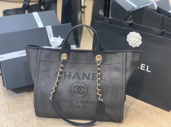 Chanel Shopping bag A66941 dark blue