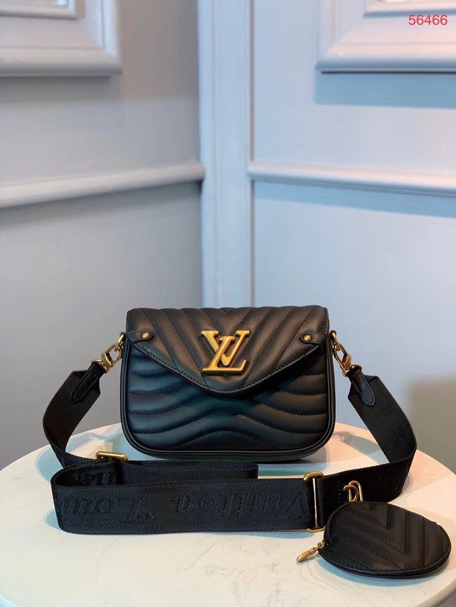 LOUIS VUITTON NEW WAVE Shoulder Bag M56466 black