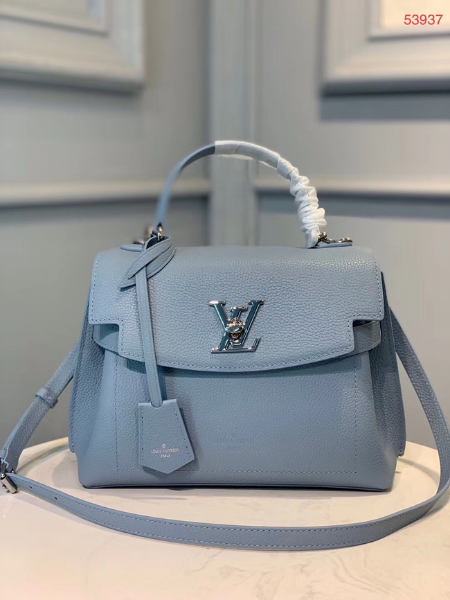 Louis vuitton original LOCKME EVER BB M53937 light blue