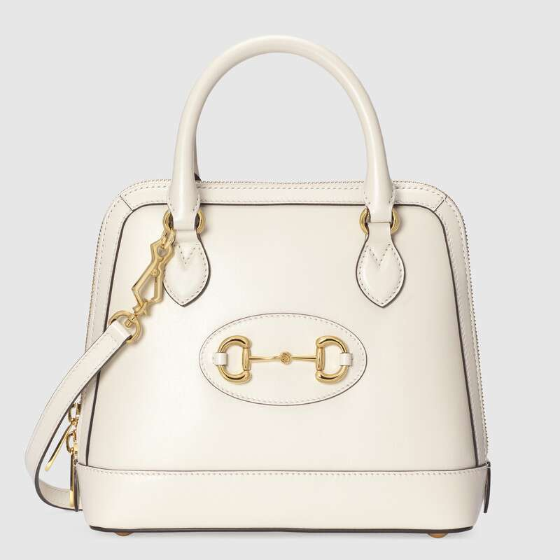 Gucci 1955 Horsebit small top handle bag 621220 White