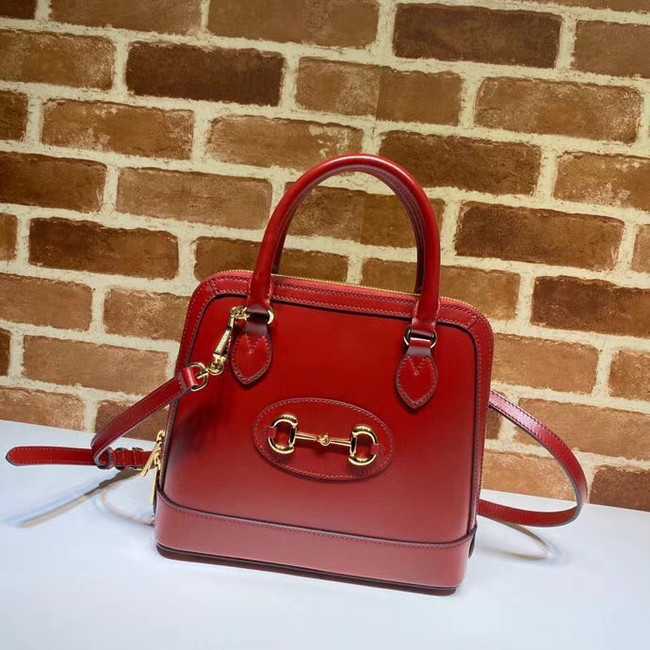Gucci 1955 Horsebit small top handle bag 621220 red