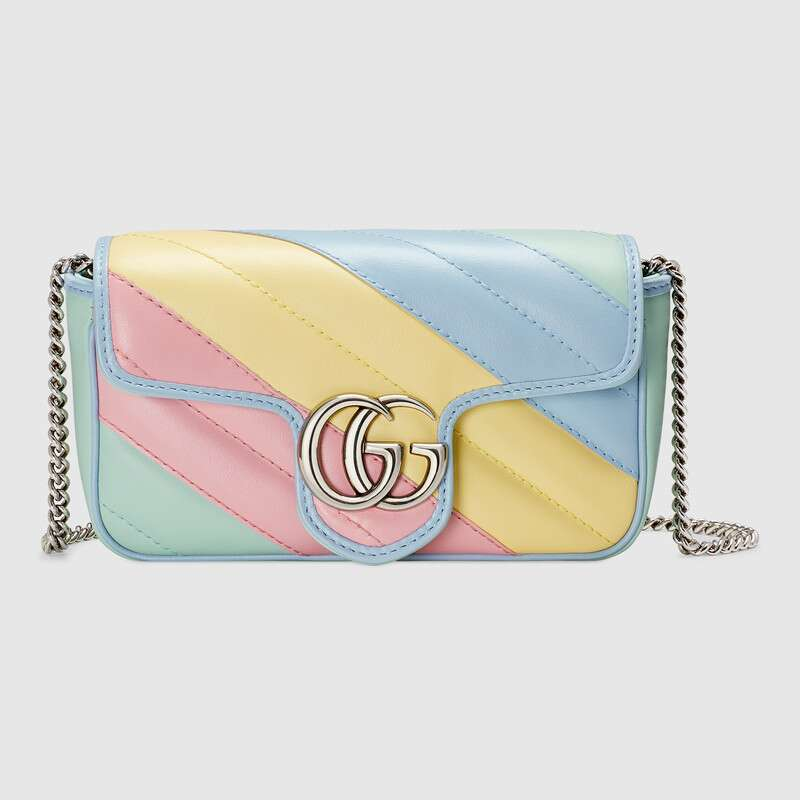 Gucci GG Marmont super mini bag 476433 Multicolored pastel