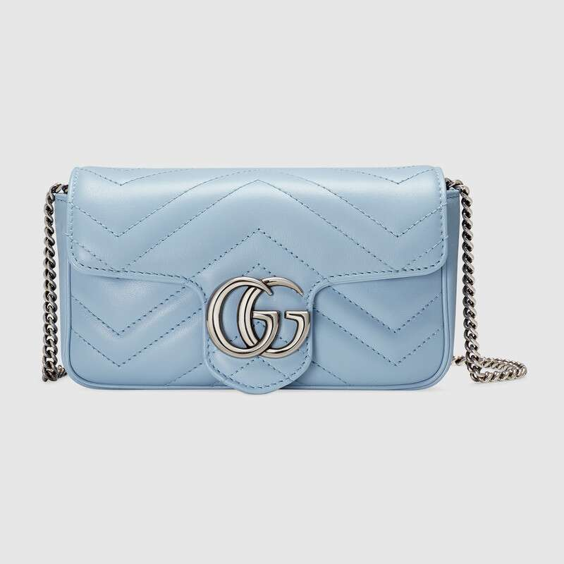 Gucci GG Marmont super mini bag 476433 Pastel blue