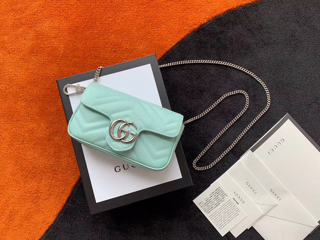 Gucci GG Marmont super mini bag 476433 Pastel green