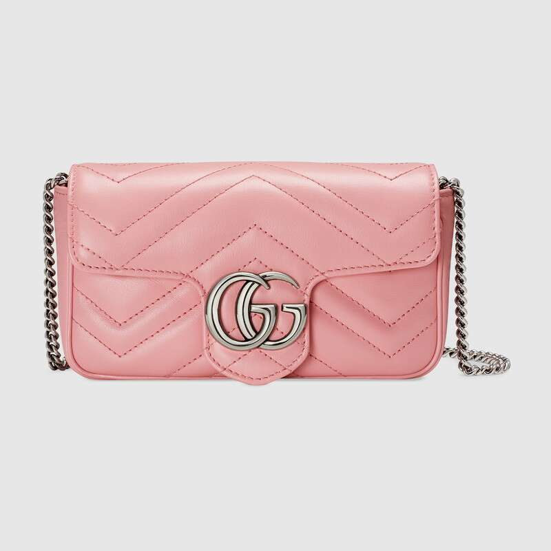 Gucci GG Marmont super mini bag 476433 Pastel pink