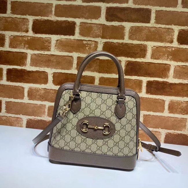 Gucci GG Supreme Canvas Top Handle Bag 621220 Khaki