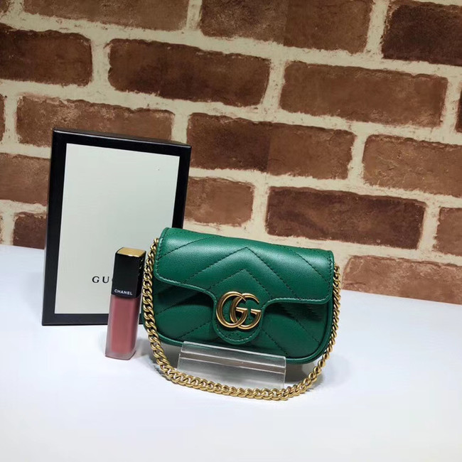 Gucci GG Marmont super Clutch bag 575161 green