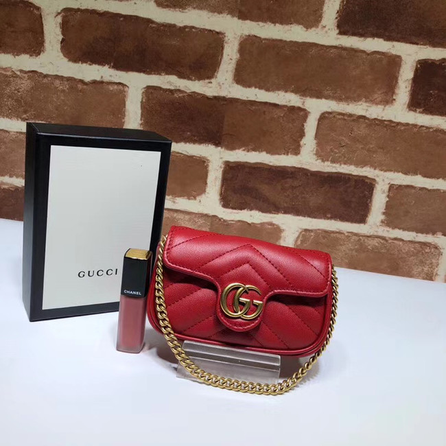 Gucci GG Marmont super Clutch bag 575161 red