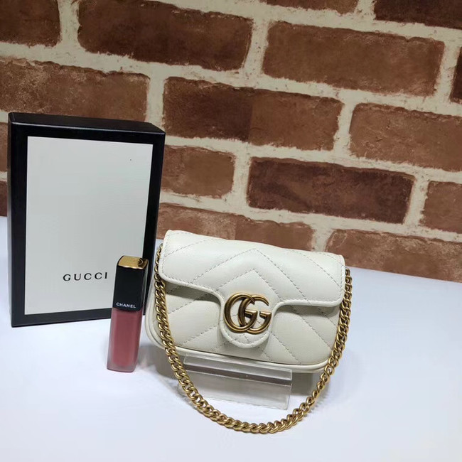 Gucci GG Marmont super Clutch bag 575161 white